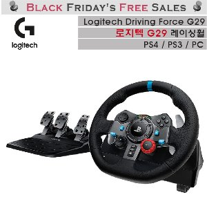 로지텍 G29 레이싱휠 PS4용 PC용 Logitech Driving Force G29