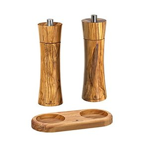 자센하우스 핸드밀 Zassenhaus salt and pepper grinder with olive wood coaster 독일출고-529468